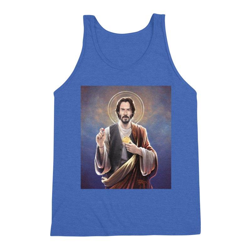 Keanu Reeves - Saint Keanu of Reeves Men's Triblend Tank by 6amcrisis's Artist Shop