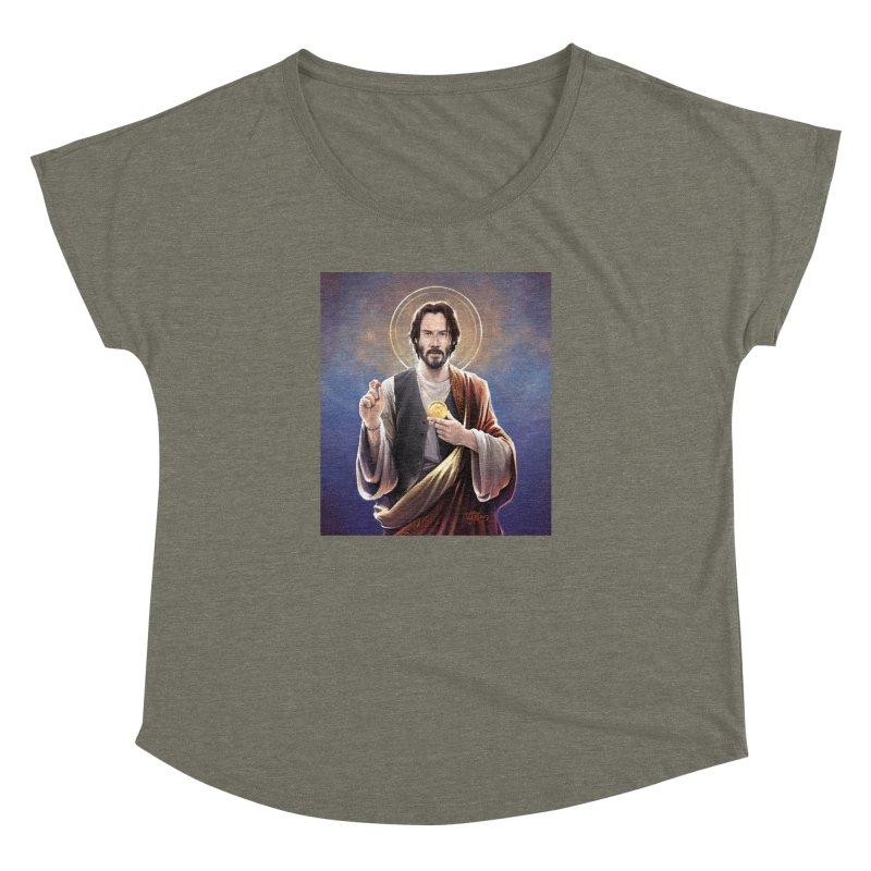 Keanu Reeves - Saint Keanu of Reeves Women's Dolman Scoop Neck by 6amcrisis's Artist Shop