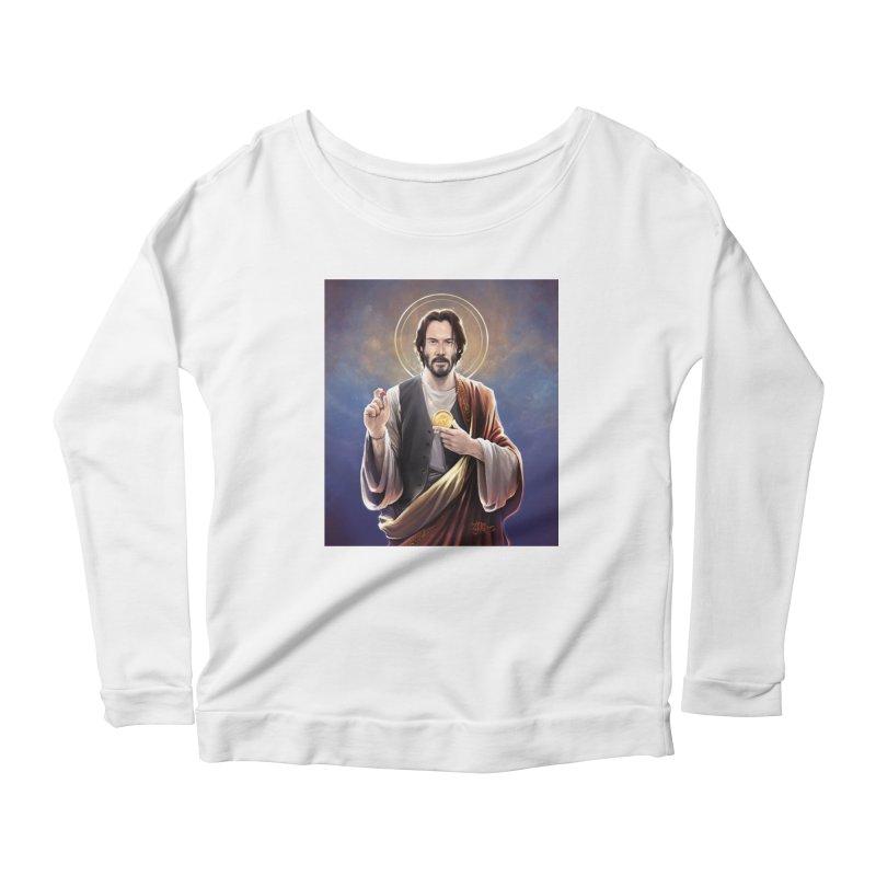 Keanu Reeves - Saint Keanu of Reeves Women's Scoop Neck Longsleeve T-Shirt by 6amcrisis's Artist Shop