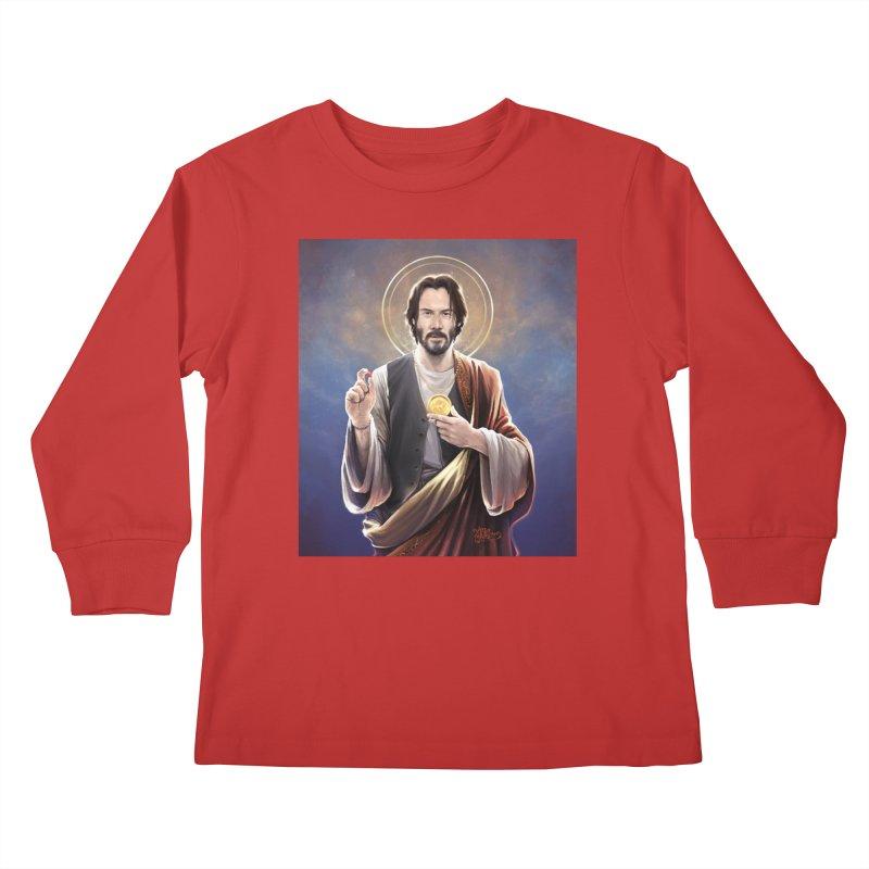 Keanu Reeves - Saint Keanu of Reeves Kids Longsleeve T-Shirt by 6amcrisis's Artist Shop