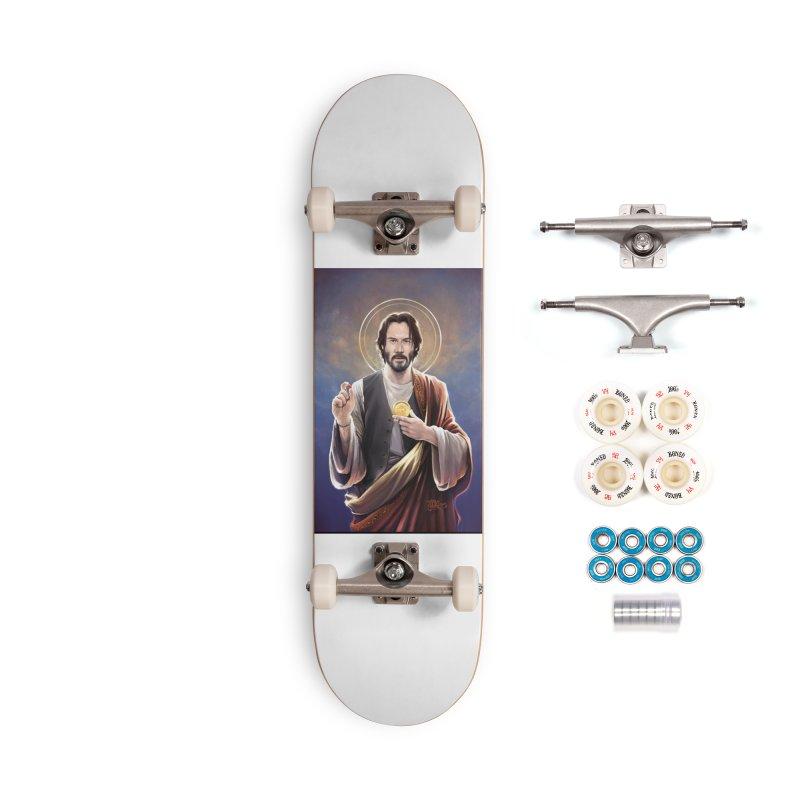 Keanu Reeves - Saint Keanu of Reeves Accessories Complete - Premium Skateboard by 6amcrisis's Artist Shop