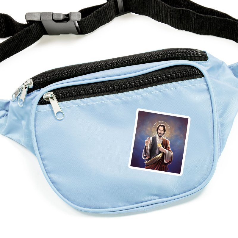 Keanu Reeves - Saint Keanu of Reeves Accessories Sticker by 6amcrisis's Artist Shop