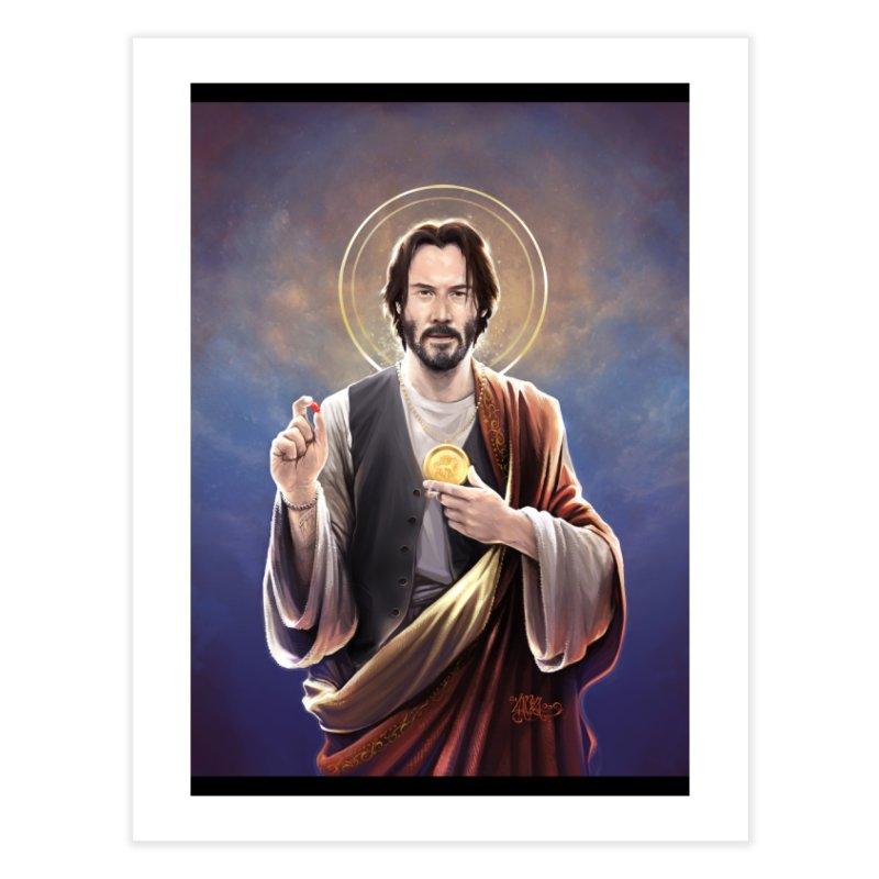 Keanu Reeves - Saint Keanu of Reeves Home Fine Art Print by 6amcrisis's Artist Shop