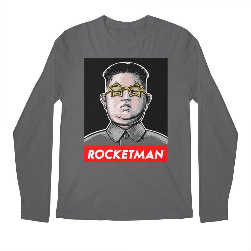 Rocket Man Kim Jong Un Men's Longsleeve T-Shirt by 6amcrisis's Artist Shop