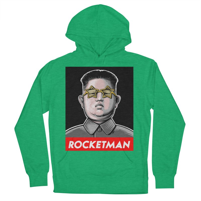 Rocket Man Kim Jong Un Men's French Terry Pullover Hoody by 6amcrisis's Artist Shop