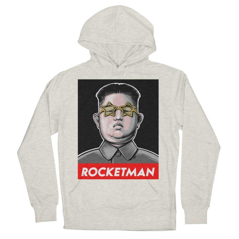 Rocket Man Kim Jong Un Men's French Terry Pullover Hoody by 6amcrisis's Artist Shop