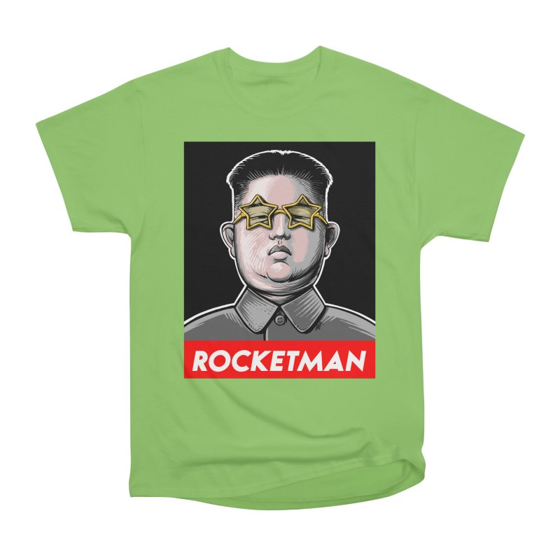 Rocket Man Kim Jong Un Men's Heavyweight T-Shirt by 6amcrisis's Artist Shop