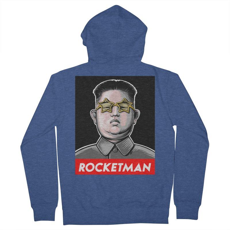 Rocket Man Kim Jong Un Women's French Terry Zip-Up Hoody by 6amcrisis's Artist Shop
