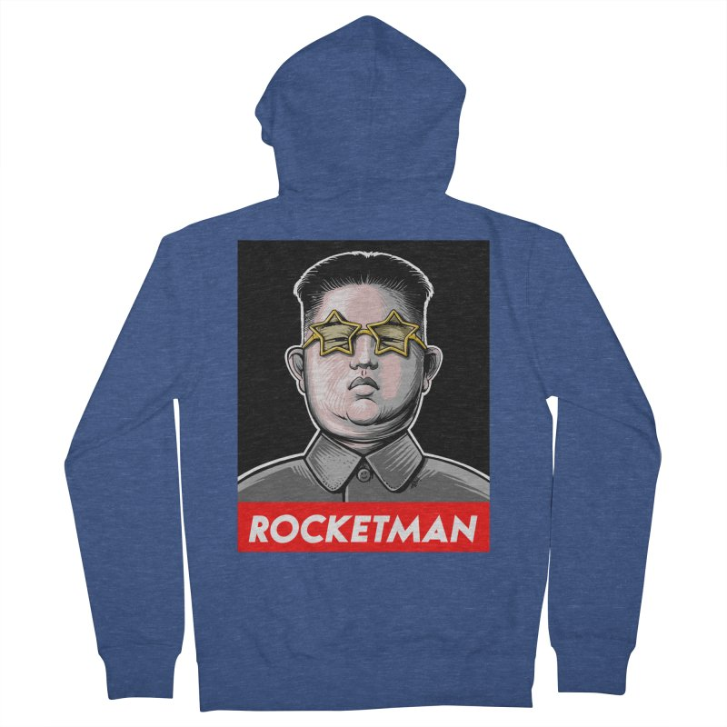 Rocket Man Kim Jong Un Men's French Terry Zip-Up Hoody by 6amcrisis's Artist Shop