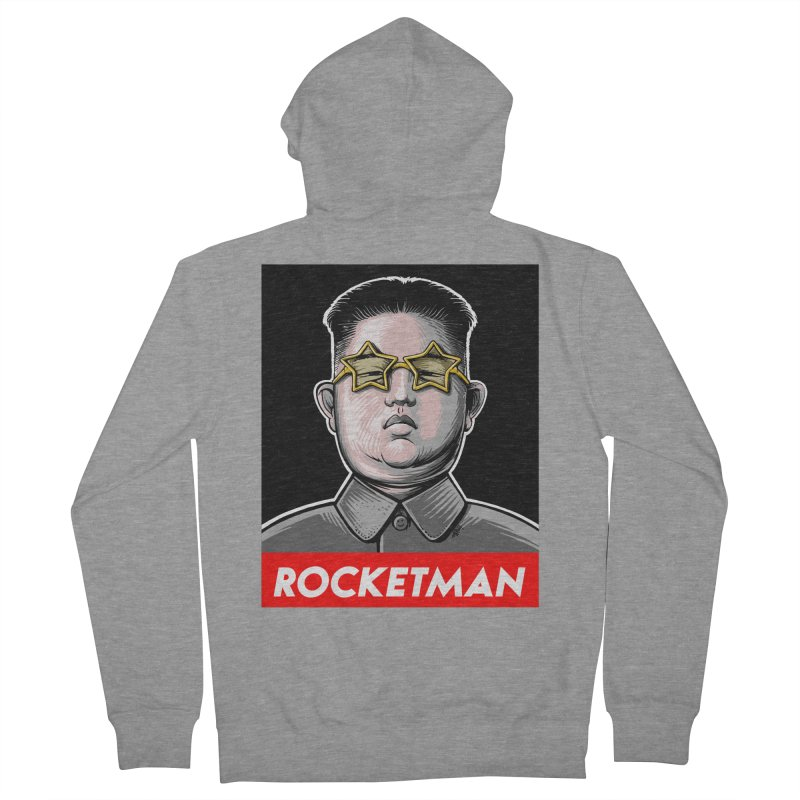 Rocket Man Kim Jong Un Men's French Terry Zip-Up Hoody by 6amcrisis's Artist Shop
