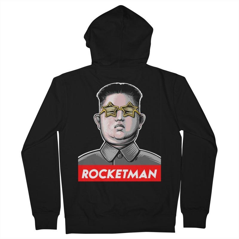 Rocket Man Kim Jong Un Men's Zip-Up Hoody by 6amcrisis's Artist Shop