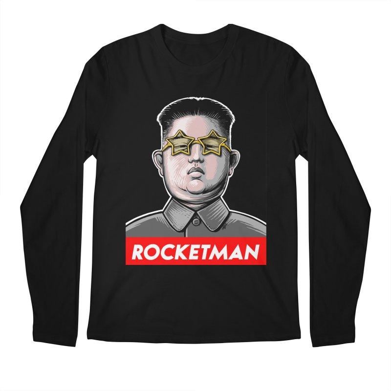 Rocket Man Kim Jong Un Men's Regular Longsleeve T-Shirt by 6amcrisis's Artist Shop
