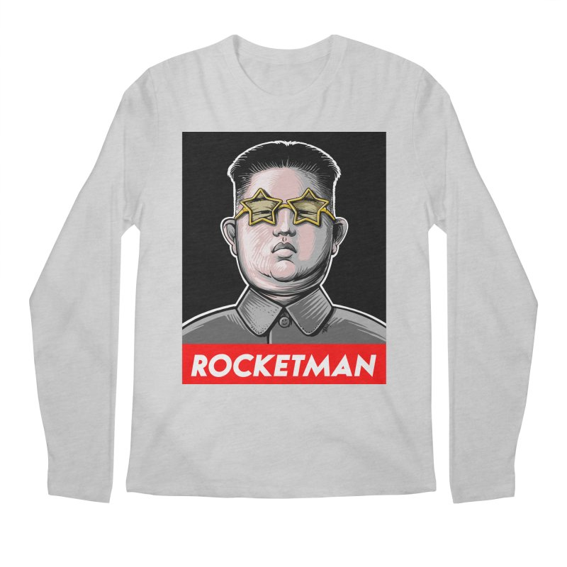 Rocket Man Kim Jong Un Men's Regular Longsleeve T-Shirt by 6amcrisis's Artist Shop