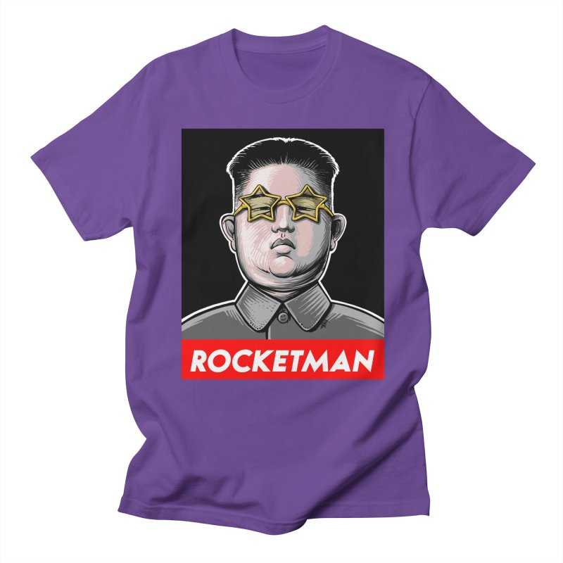 Rocket Man Kim Jong Un Men's T-Shirt by 6amcrisis's Artist Shop