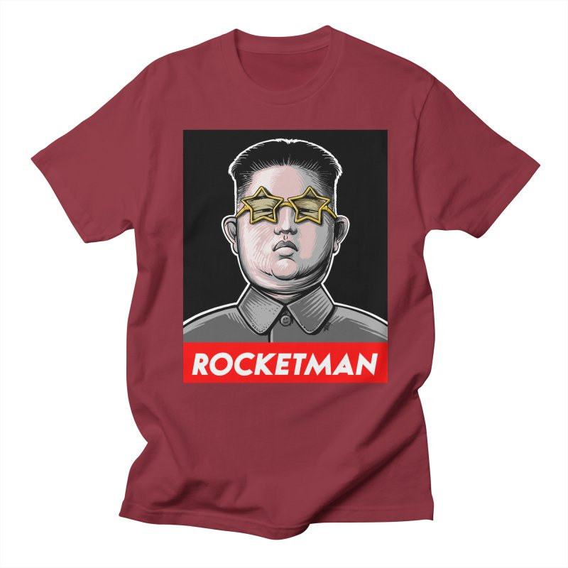 Rocket Man Kim Jong Un Men's T-Shirt by 6amcrisis's Artist Shop