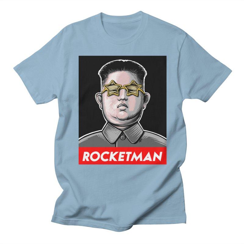 Rocket Man Kim Jong Un Women's Regular Unisex T-Shirt by 6amcrisis's Artist Shop