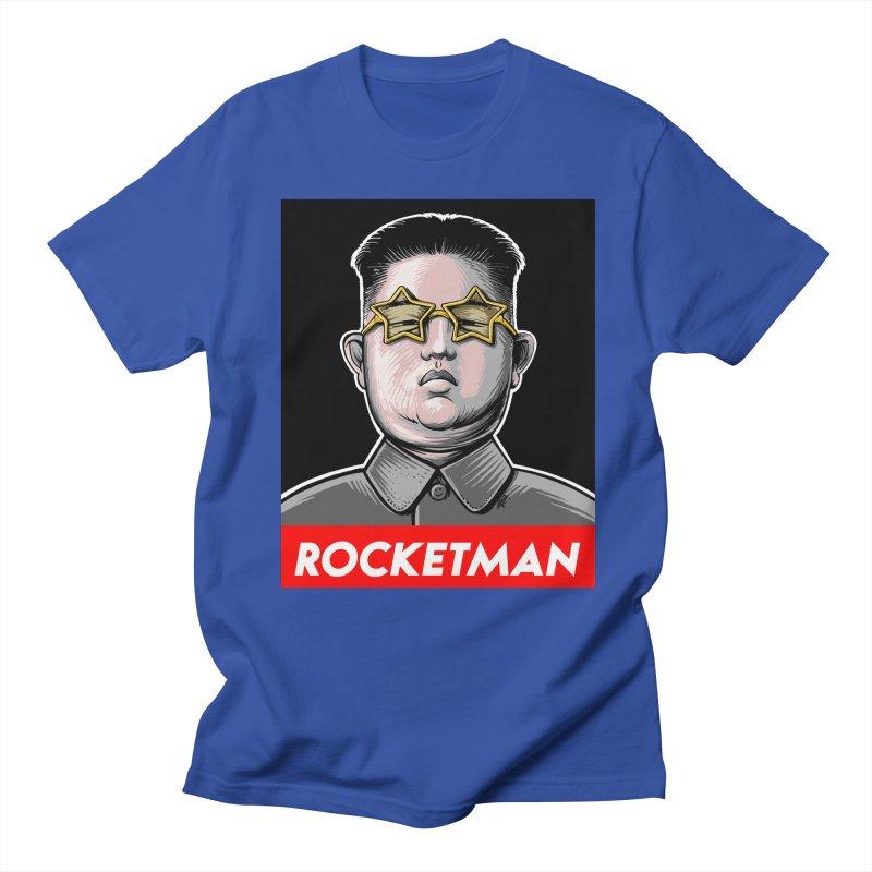 Rocket Man Kim Jong Un Men's Regular T-Shirt by 6amcrisis's Artist Shop