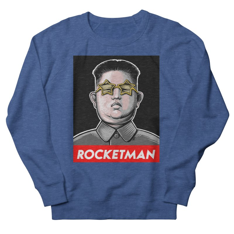 Rocket Man Kim Jong Un Women's French Terry Sweatshirt by 6amcrisis's Artist Shop