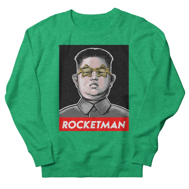 Rocket Man Kim Jong Un Men's French Terry Sweatshirt by 6amcrisis's Artist Shop