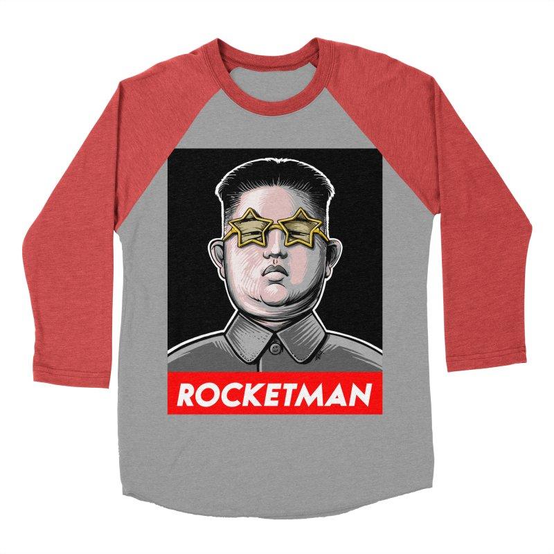 Rocket Man Kim Jong Un Men's Baseball Triblend Longsleeve T-Shirt by 6amcrisis's Artist Shop
