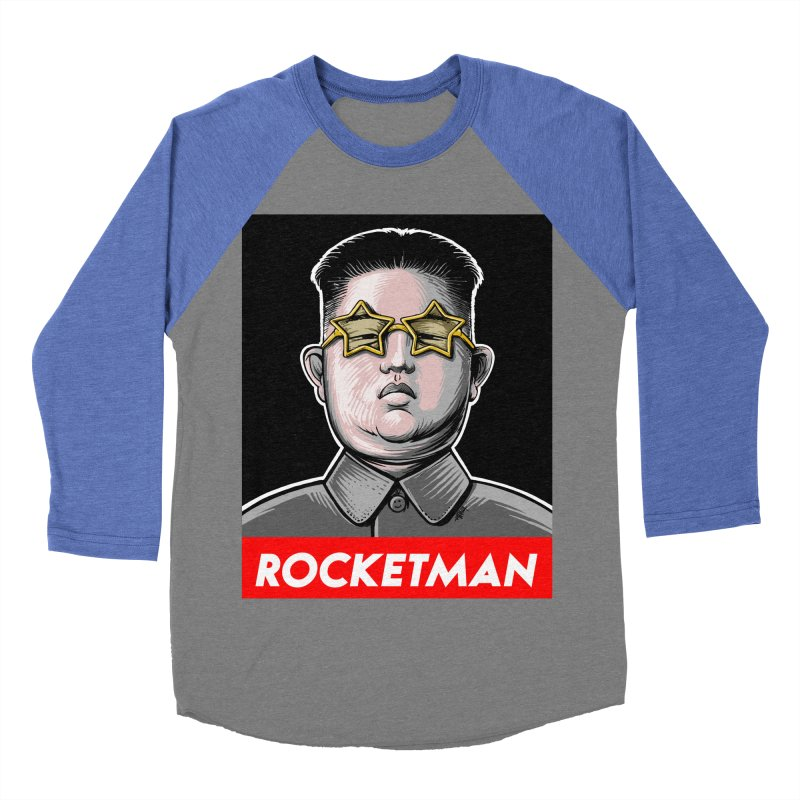 Rocket Man Kim Jong Un Men's Baseball Triblend Longsleeve T-Shirt by 6amcrisis's Artist Shop