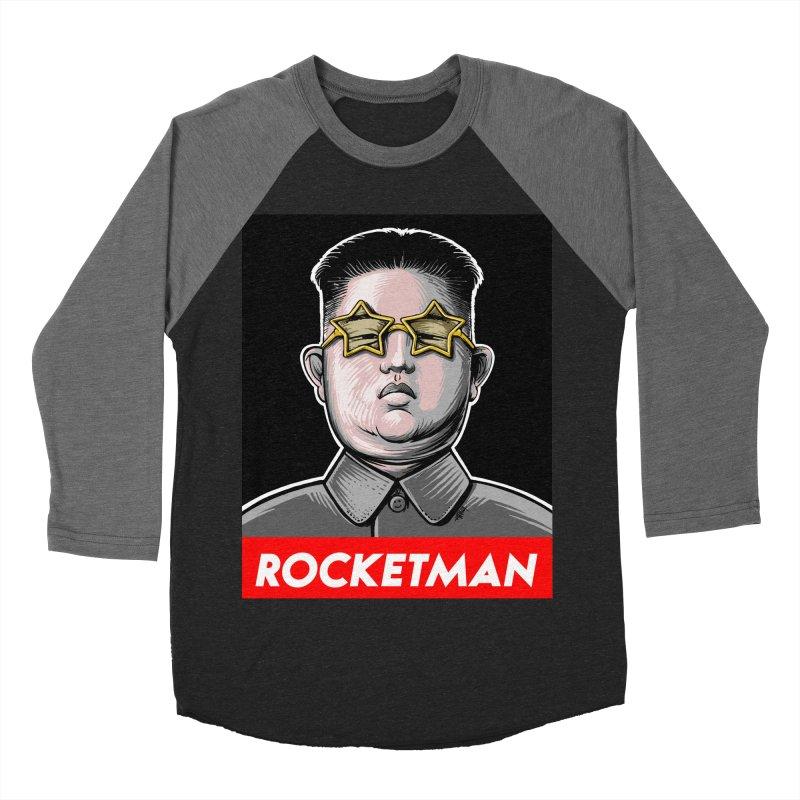 Rocket Man Kim Jong Un Men's Baseball Triblend T-Shirt by 6amcrisis's Artist Shop