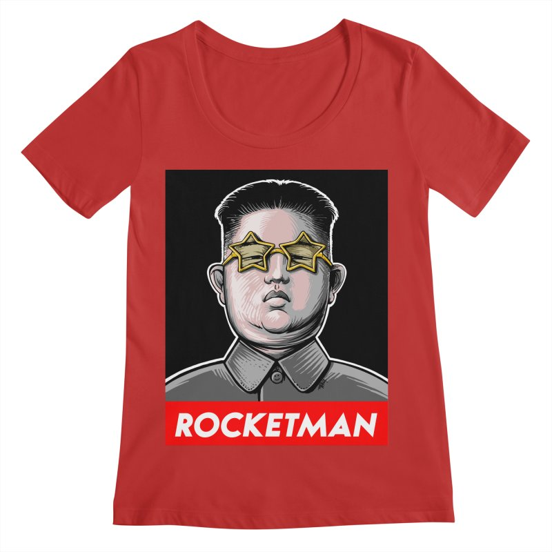 Rocket Man Kim Jong Un Women's Regular Scoop Neck by 6amcrisis's Artist Shop