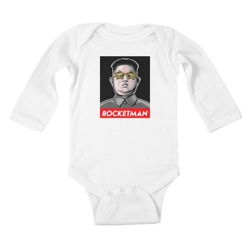 Rocket Man Kim Jong Un Kids Baby Longsleeve Bodysuit by 6amcrisis's Artist Shop