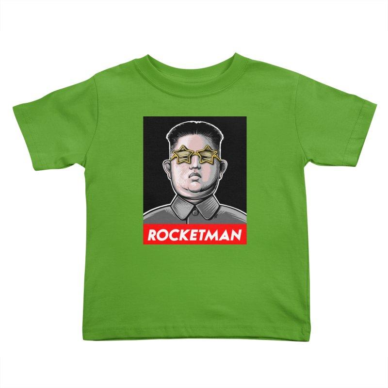 Rocket Man Kim Jong Un Kids Toddler T-Shirt by 6amcrisis's Artist Shop