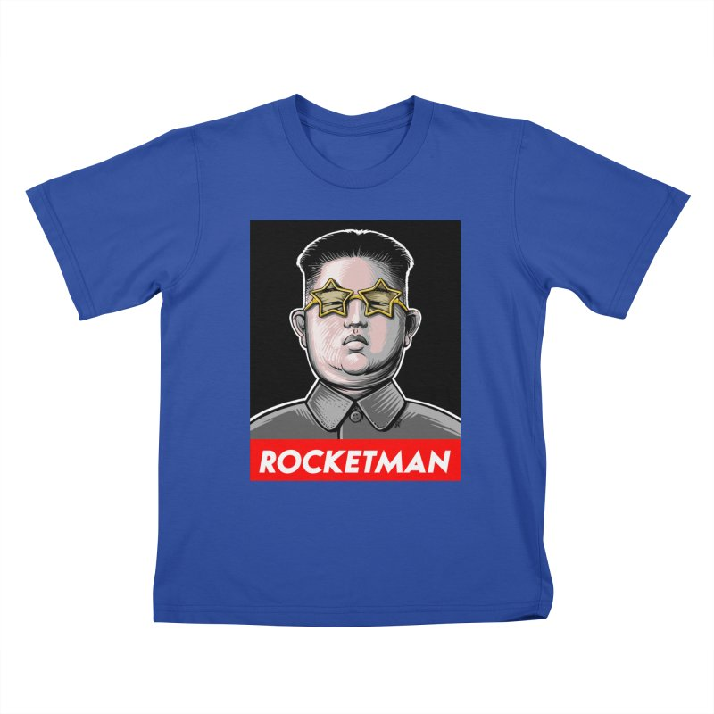 Rocket Man Kim Jong Un Kids T-Shirt by 6amcrisis's Artist Shop