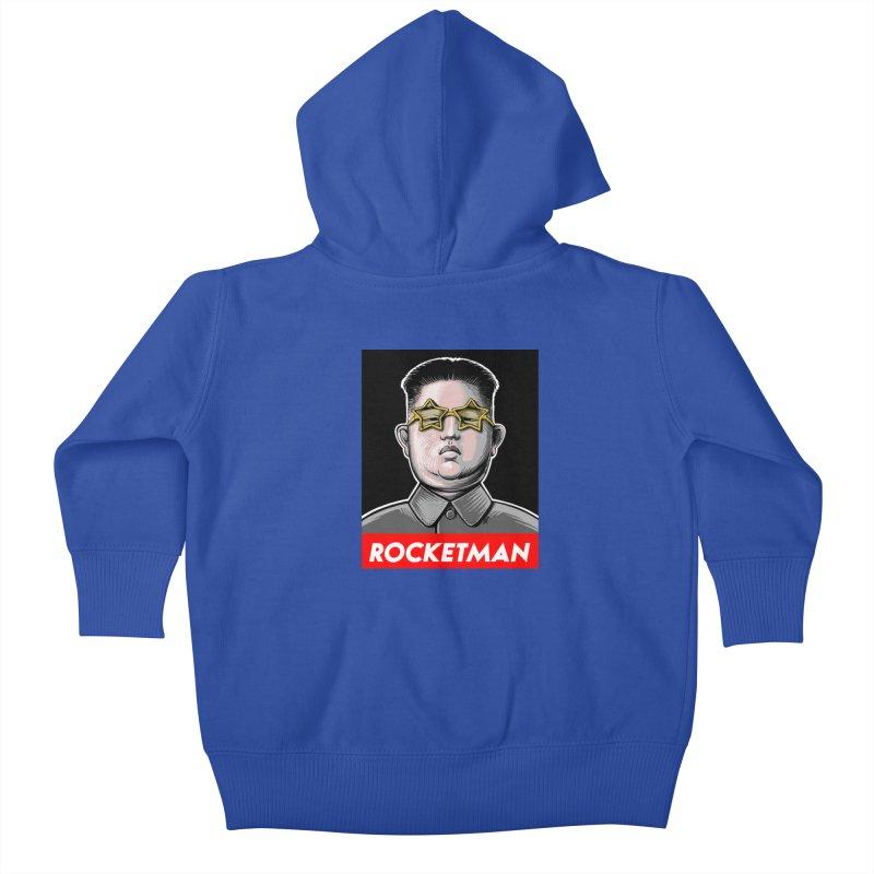 Rocket Man Kim Jong Un Kids Baby Zip-Up Hoody by 6amcrisis's Artist Shop