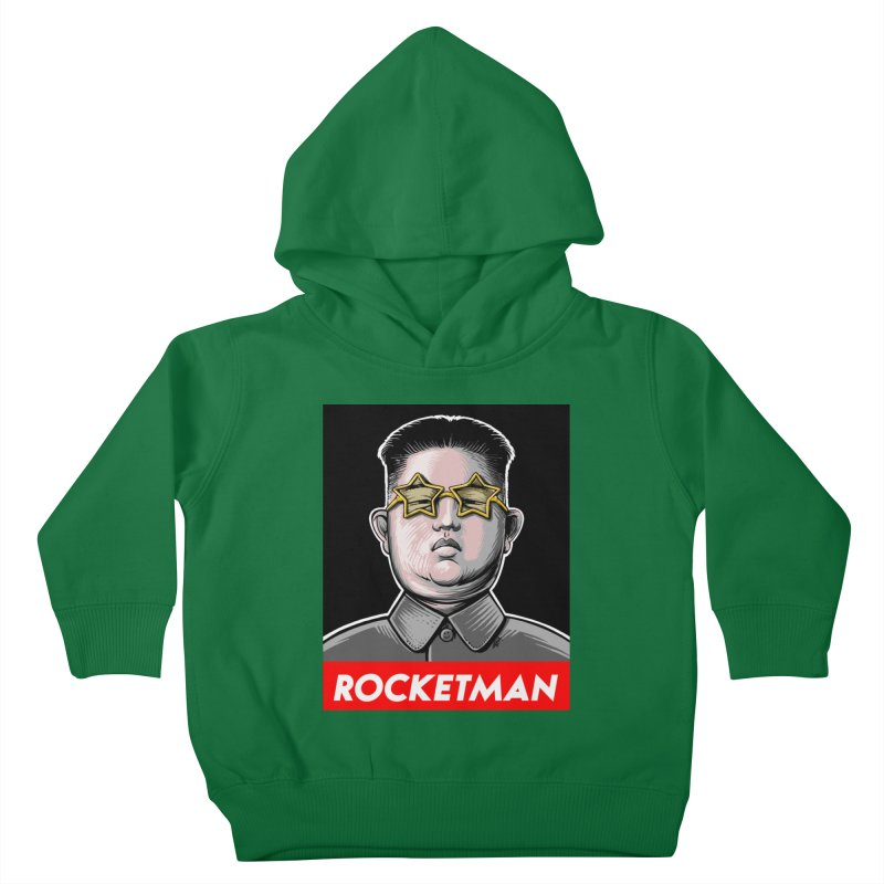 Rocket Man Kim Jong Un Kids Toddler Pullover Hoody by 6amcrisis's Artist Shop