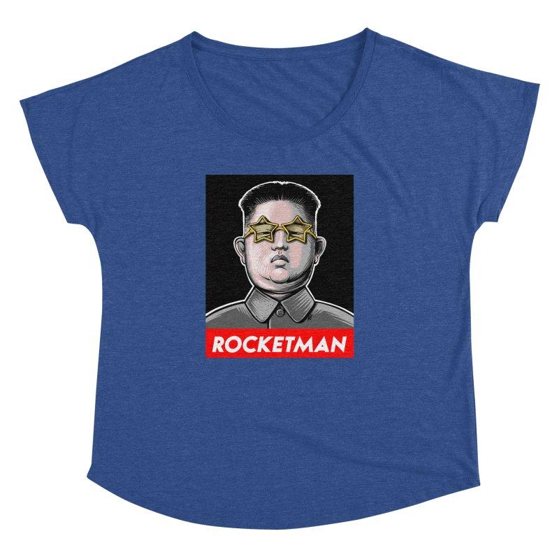 Rocket Man Kim Jong Un Women's Dolman Scoop Neck by 6amcrisis's Artist Shop