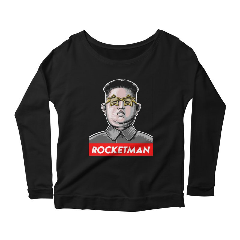 Rocket Man Kim Jong Un Women's Scoop Neck Longsleeve T-Shirt by 6amcrisis's Artist Shop
