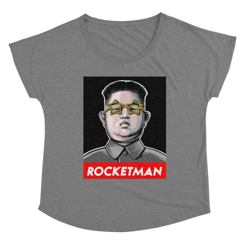 Rocket Man Kim Jong Un Women's Scoop Neck by 6amcrisis's Artist Shop