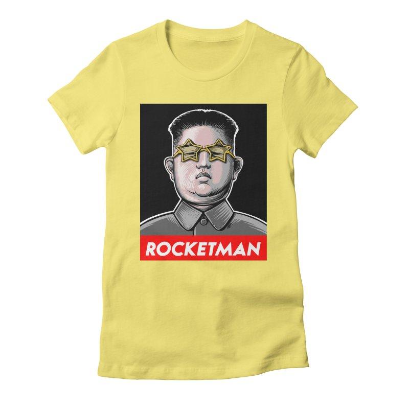Rocket Man Kim Jong Un Women's Fitted T-Shirt by 6amcrisis's Artist Shop