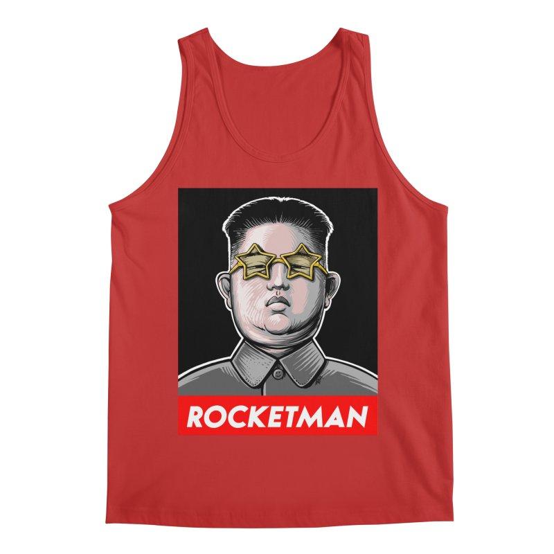 Rocket Man Kim Jong Un Men's Regular Tank by 6amcrisis's Artist Shop