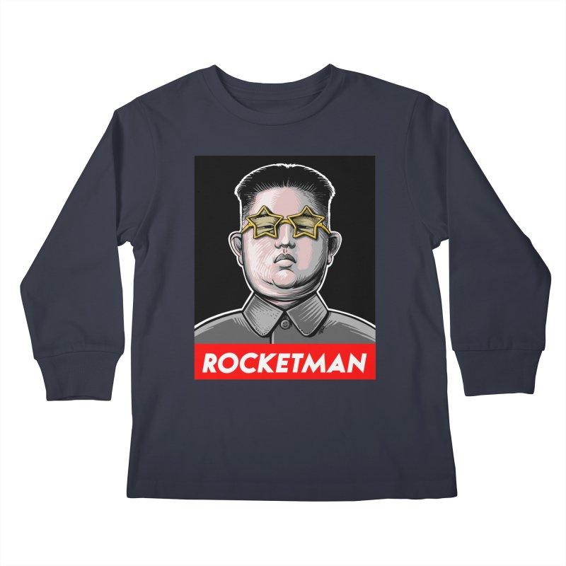 Rocket Man Kim Jong Un Kids Longsleeve T-Shirt by 6amcrisis's Artist Shop