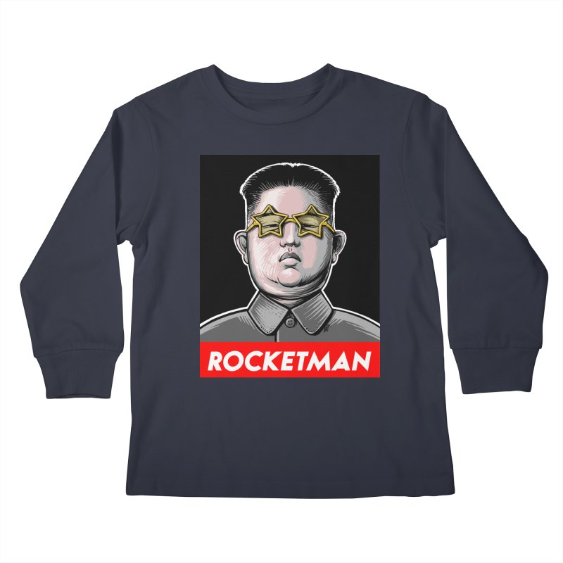 Rocket Man Kim Jong Un Kids Longsleeve T-Shirt by 6amcrisis's Artist Shop