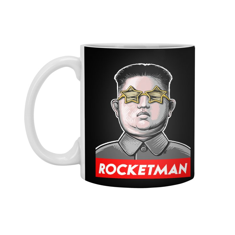 Rocket Man Kim Jong Un Accessories Mug by 6amcrisis's Artist Shop