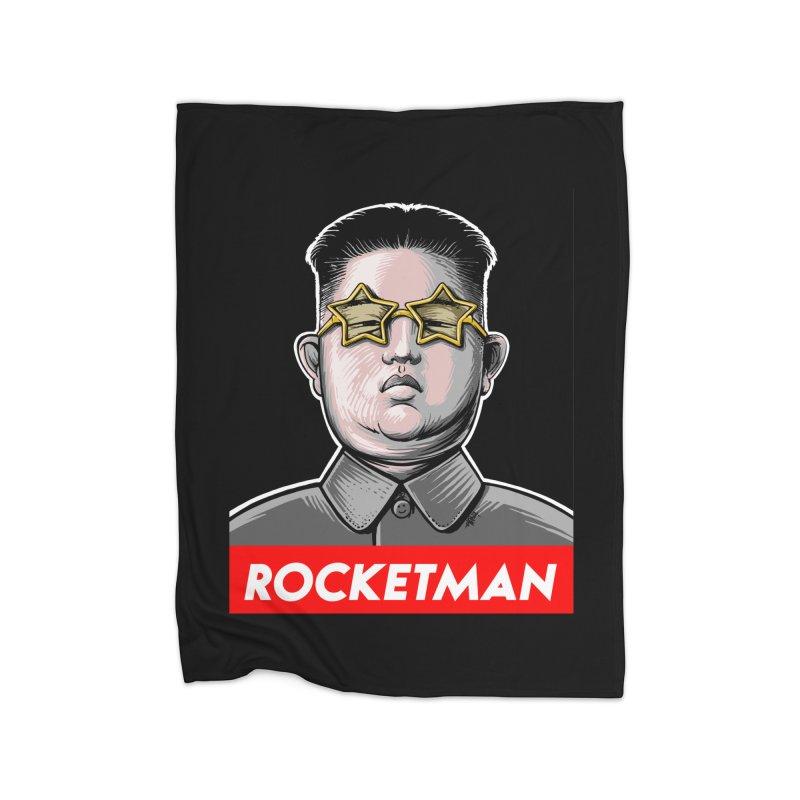 Rocket Man Kim Jong Un Home Blanket by 6amcrisis's Artist Shop