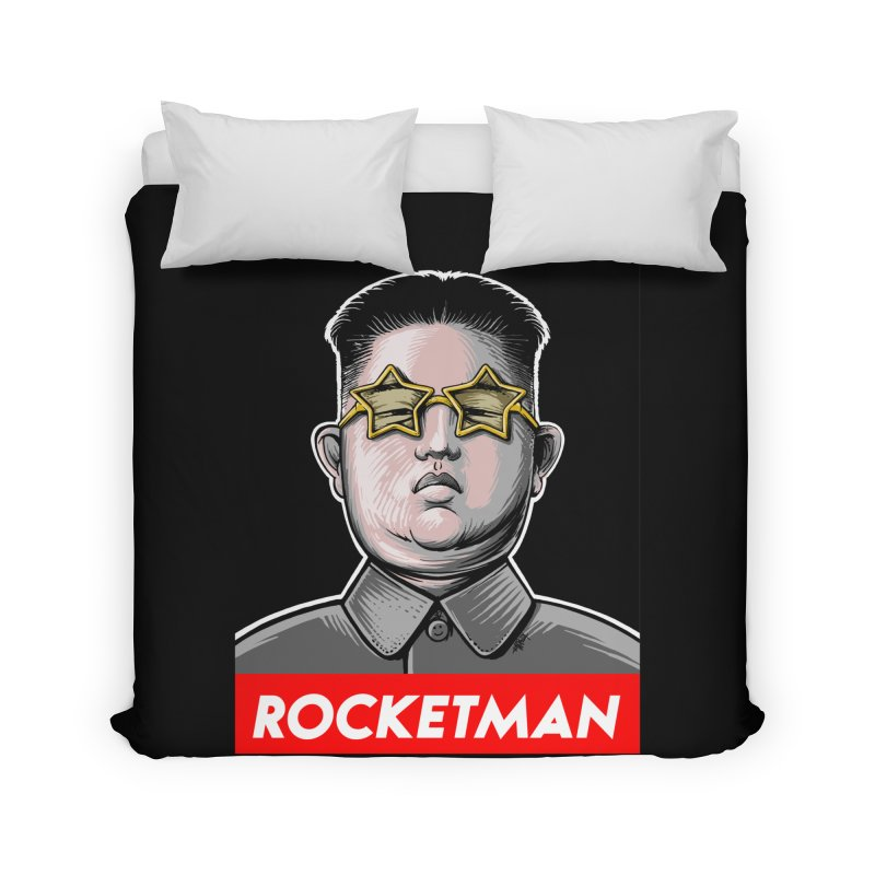 Rocket Man Kim Jong Un Home Duvet by 6amcrisis's Artist Shop