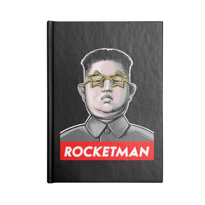 Rocket Man Kim Jong Un Accessories Lined Journal Notebook by 6amcrisis's Artist Shop