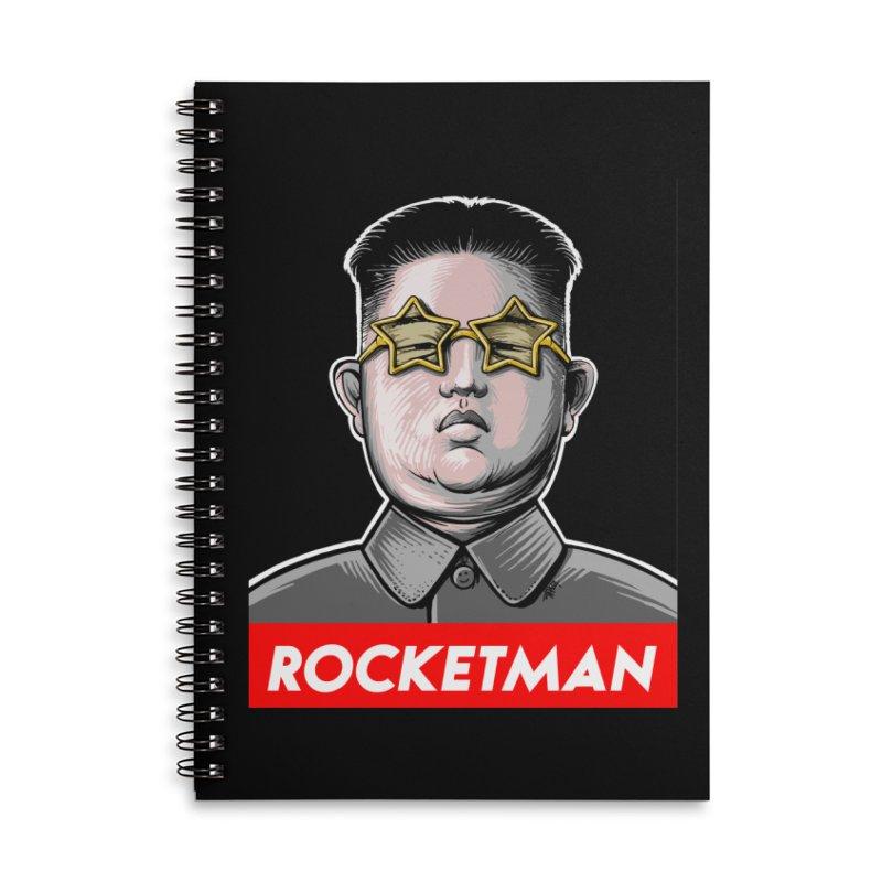 Rocket Man Kim Jong Un Accessories Lined Spiral Notebook by 6amcrisis's Artist Shop