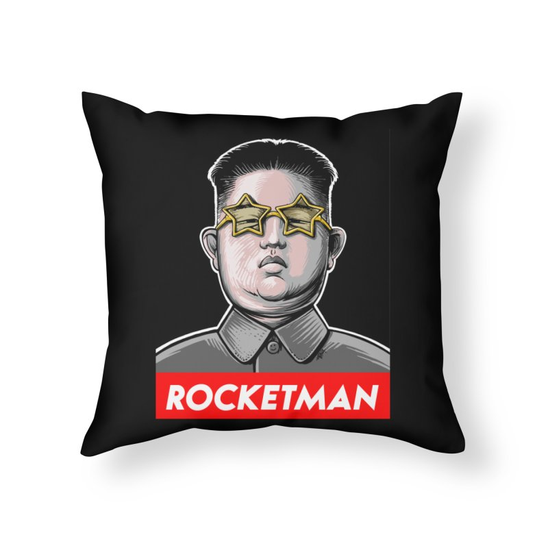 Rocket Man Kim Jong Un Home Throw Pillow by 6amcrisis's Artist Shop
