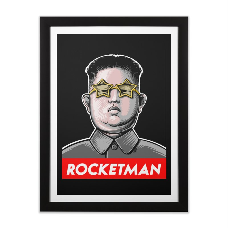 Rocket Man Kim Jong Un Home Framed Fine Art Print by 6amcrisis's Artist Shop