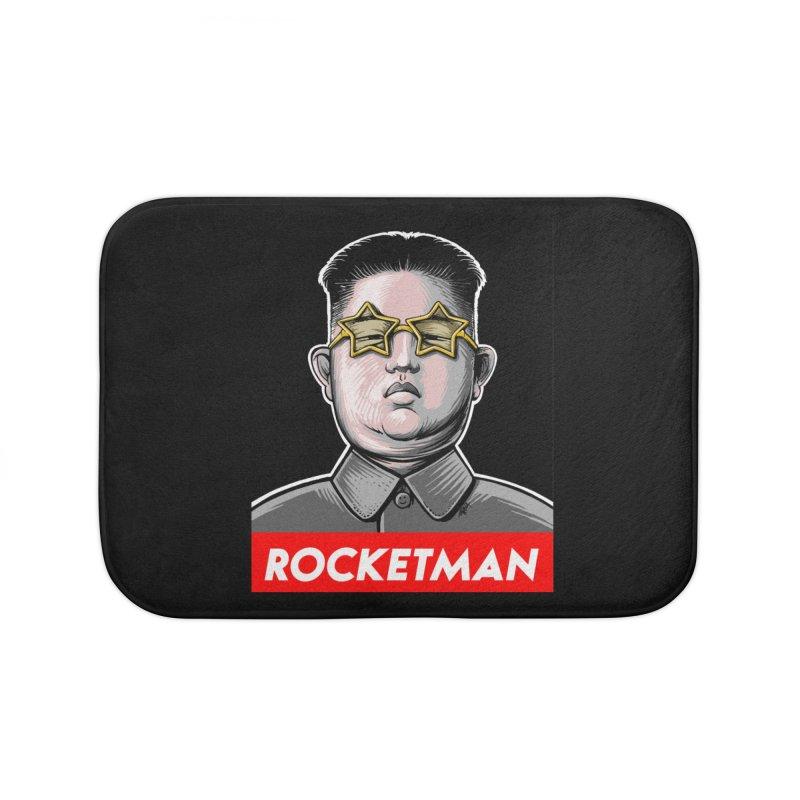 Rocket Man Kim Jong Un Home Bath Mat by 6amcrisis's Artist Shop