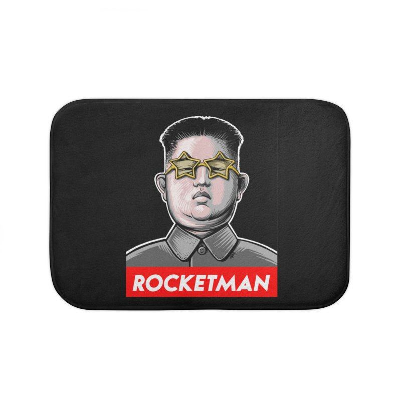 Rocket Man Kim Jong Un Home Bath Mat by 6amcrisis's Artist Shop