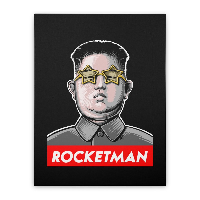 Rocket Man Kim Jong Un Home Stretched Canvas by 6amcrisis's Artist Shop