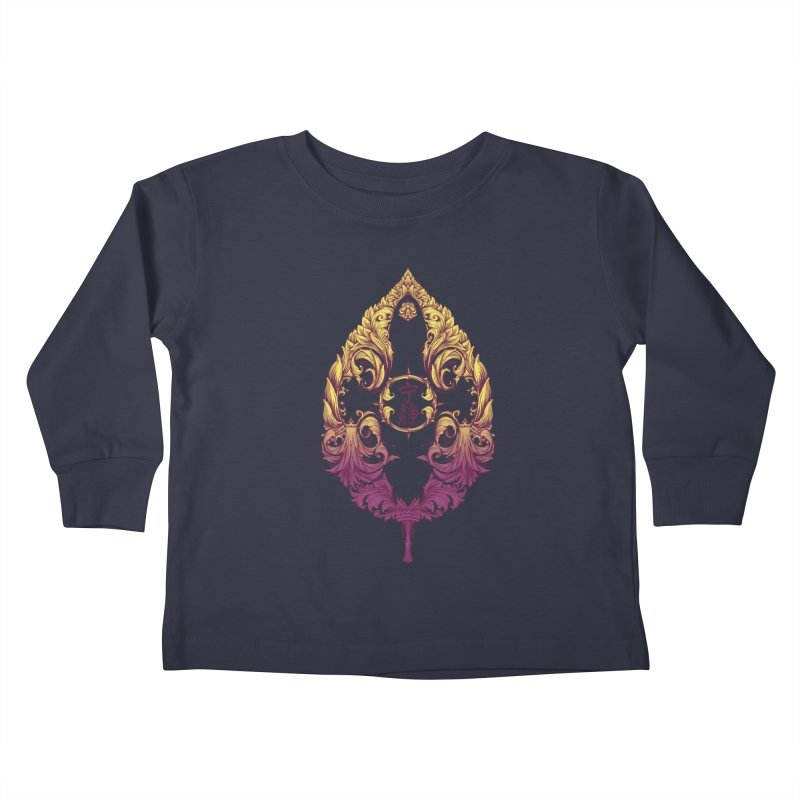 Leaf Victoriana Kids Toddler Longsleeve T-Shirt by 6amcrisis's Artist Shop